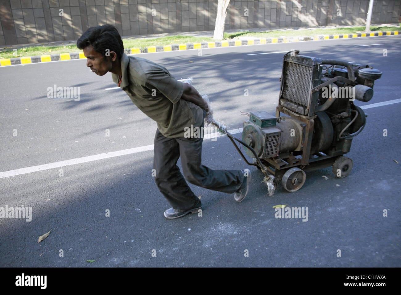 IND, l'Inde, 20110310, travailleur Photo Stock