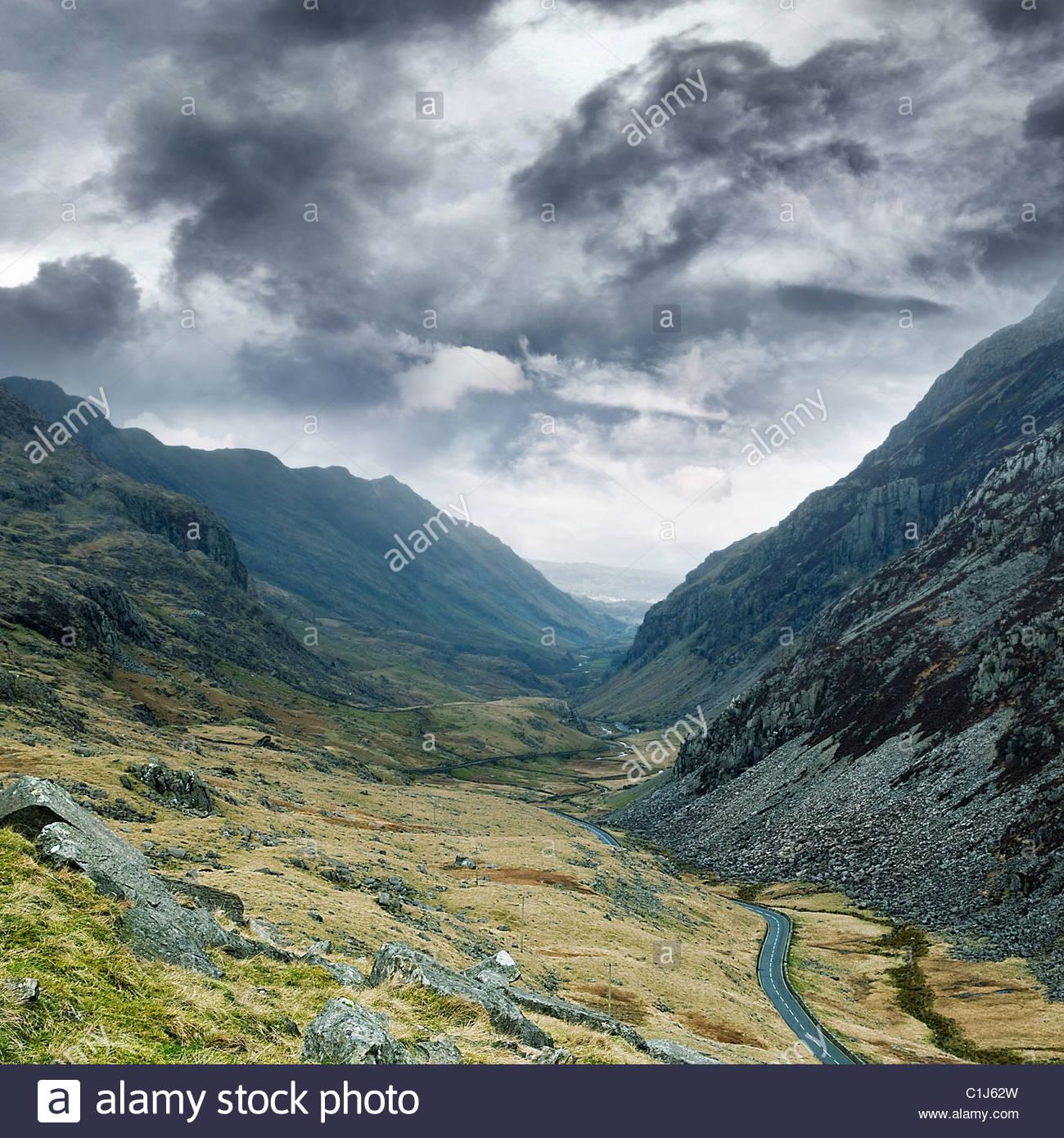 Llanberis pass le Snowdonia Photo Stock