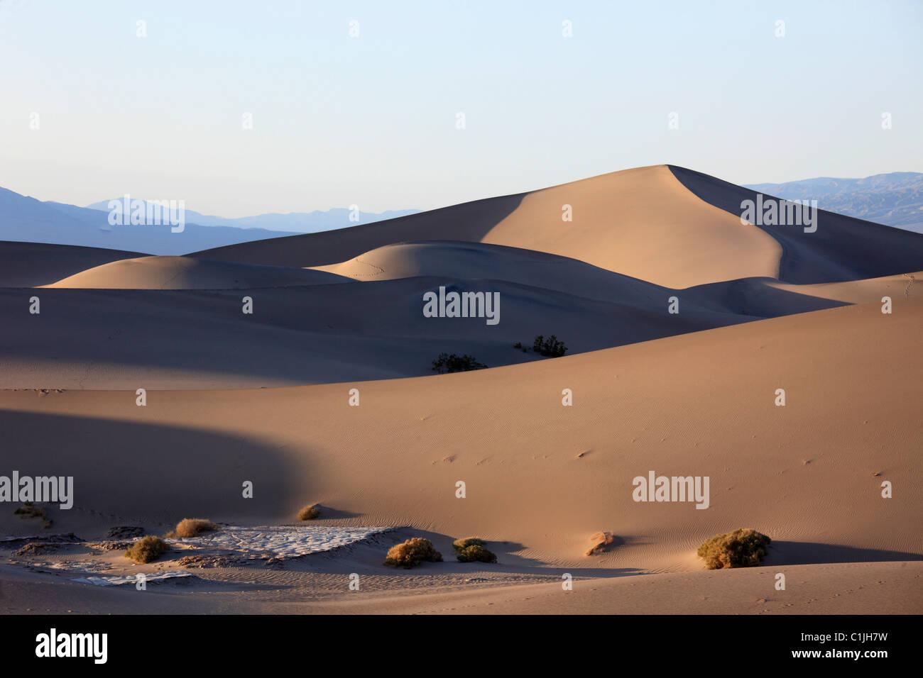 États-unis, Californie, Death Valley, Parc National, Mesquite sand dunes, télévision, Banque D'Images