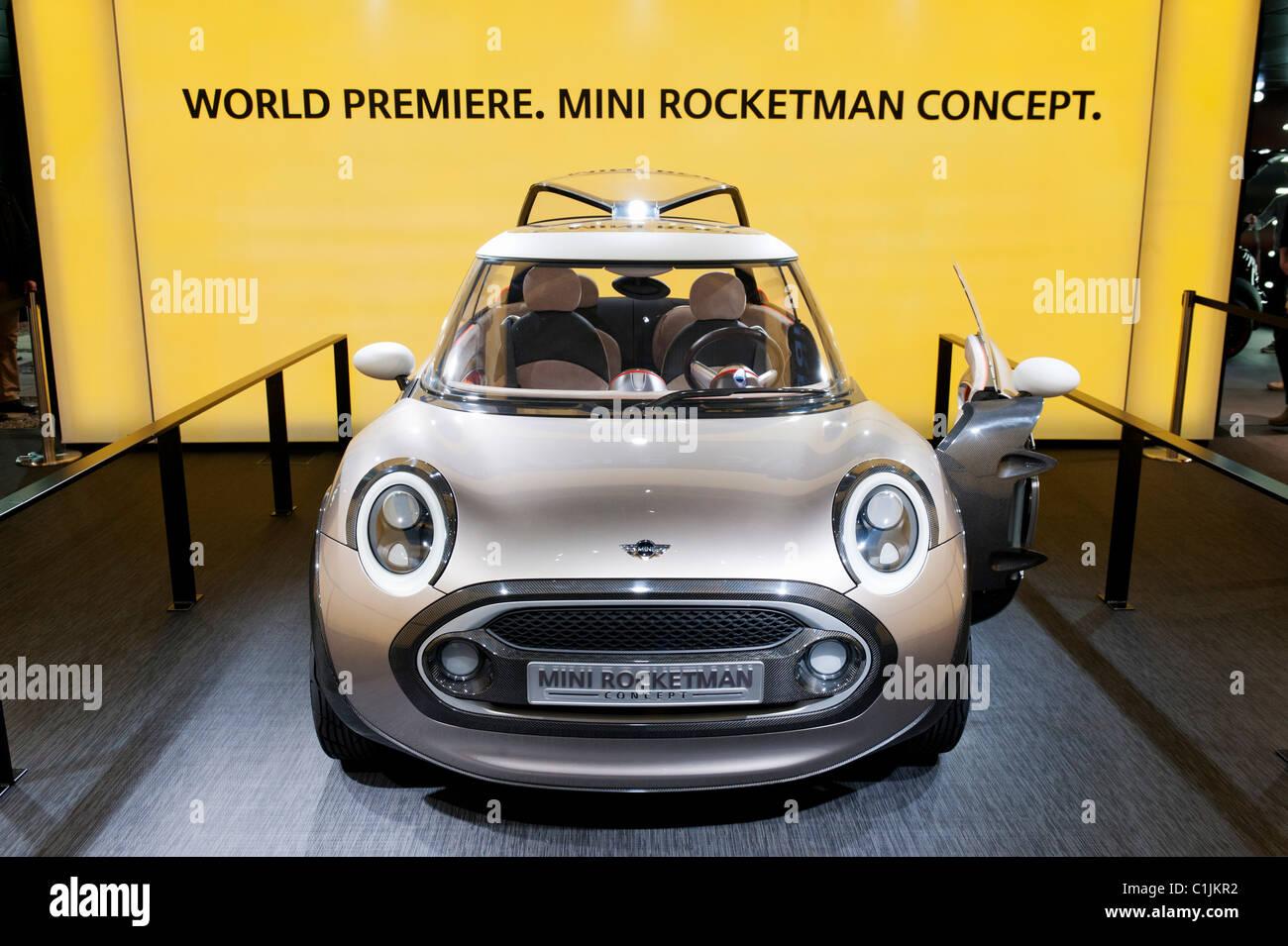 Nouvelle Mini Rocketman concept car au Salon de Genève 2011 Suisse Photo Stock