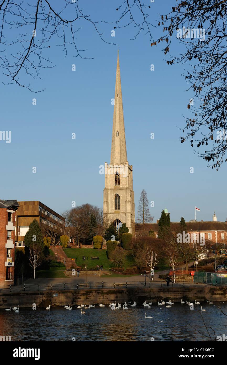 Glover's Needle Worcester et la rivière Severn Photo Stock