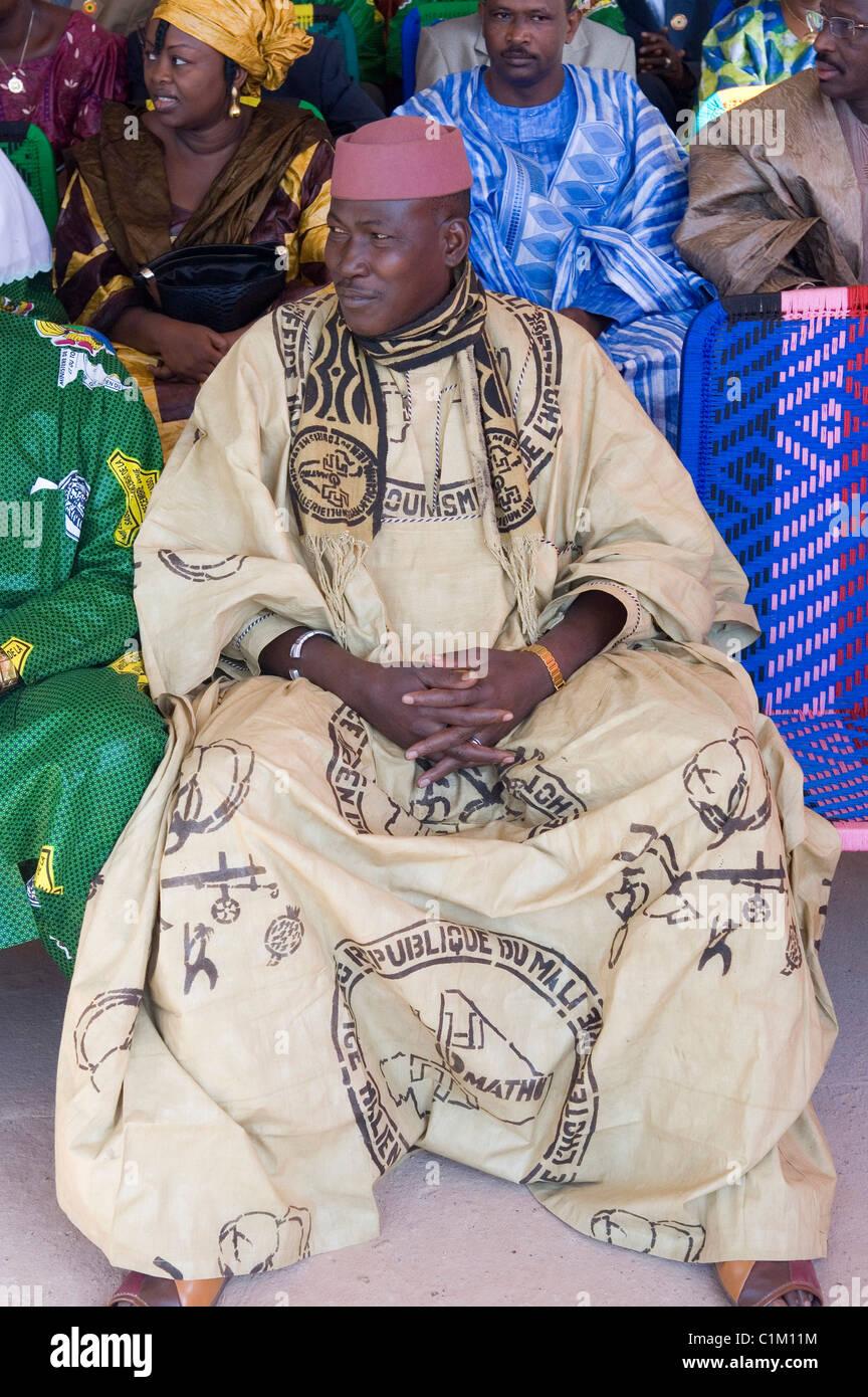 La ville de Sikasso, Mali, festivités Banque D'Images