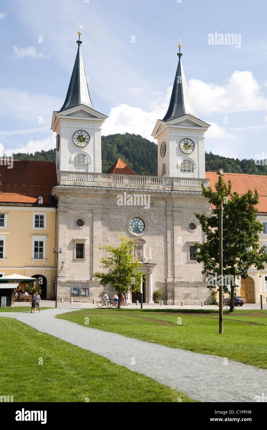 Allemagne, Tegernsee, façade du monastère Photo Stock