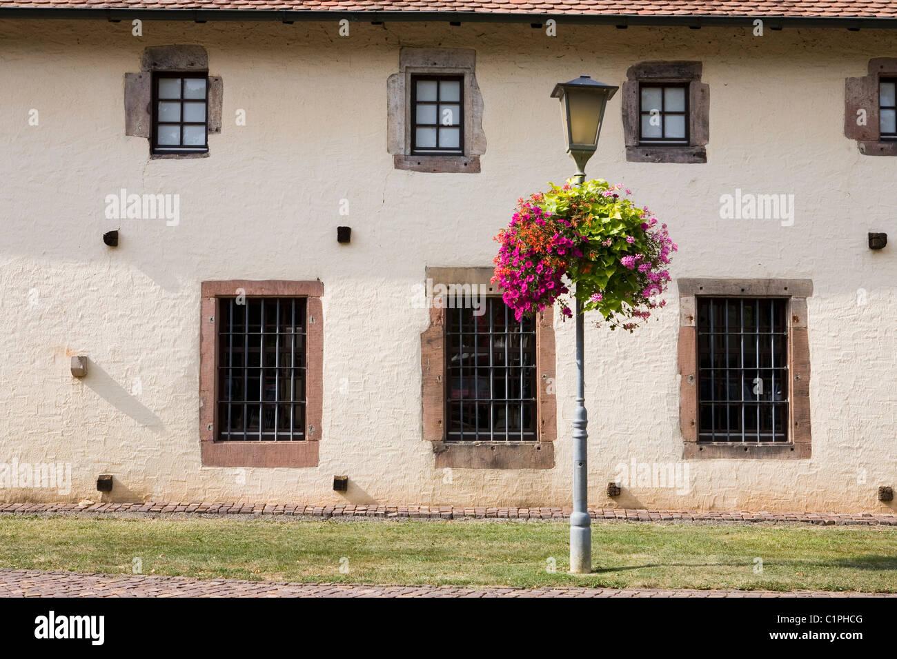 Allemagne, Bavière, Haslach, façade de folk museum Photo Stock