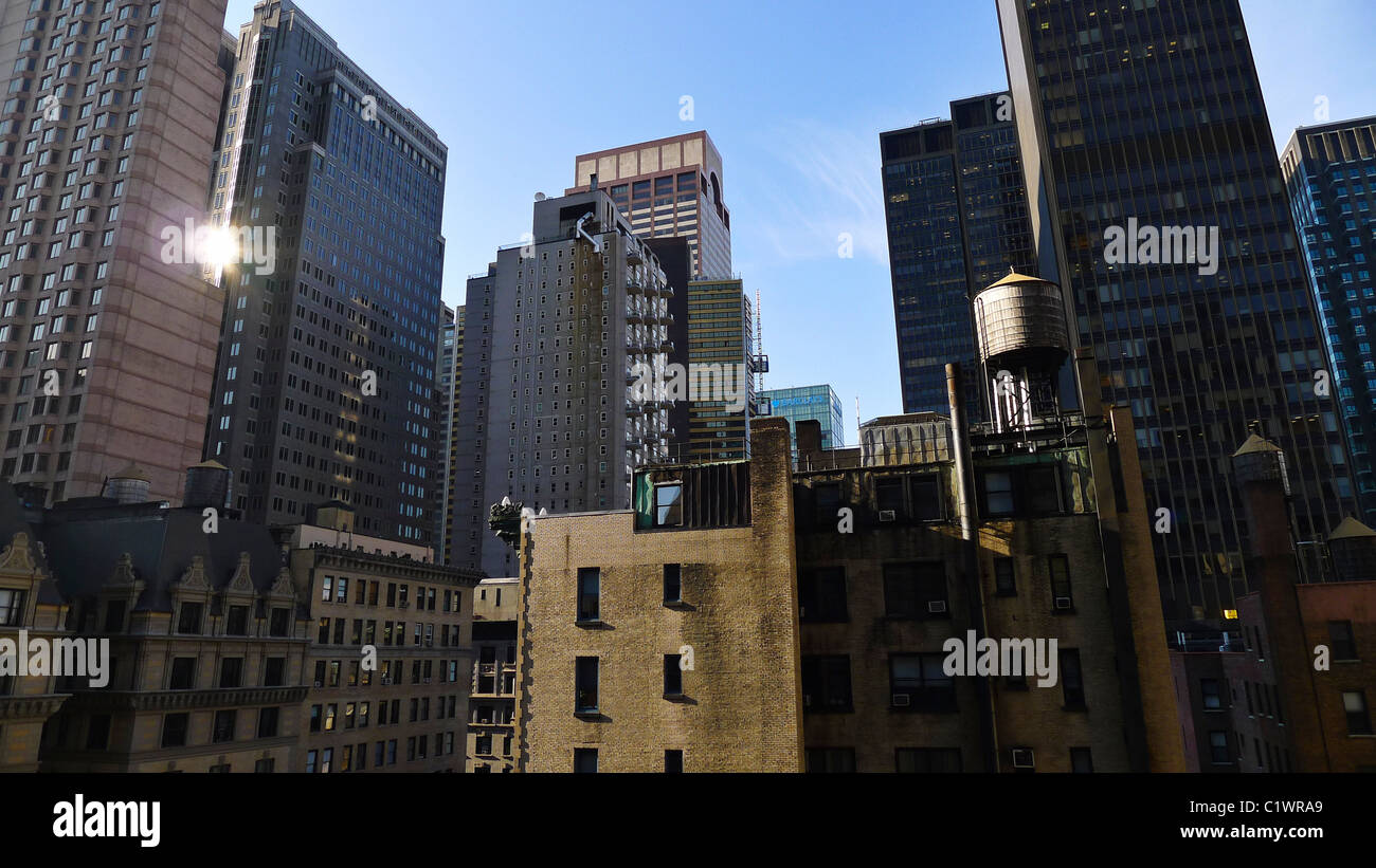 Les villes américaines, l'architecture de la ville de New York, USA. Photo Stock