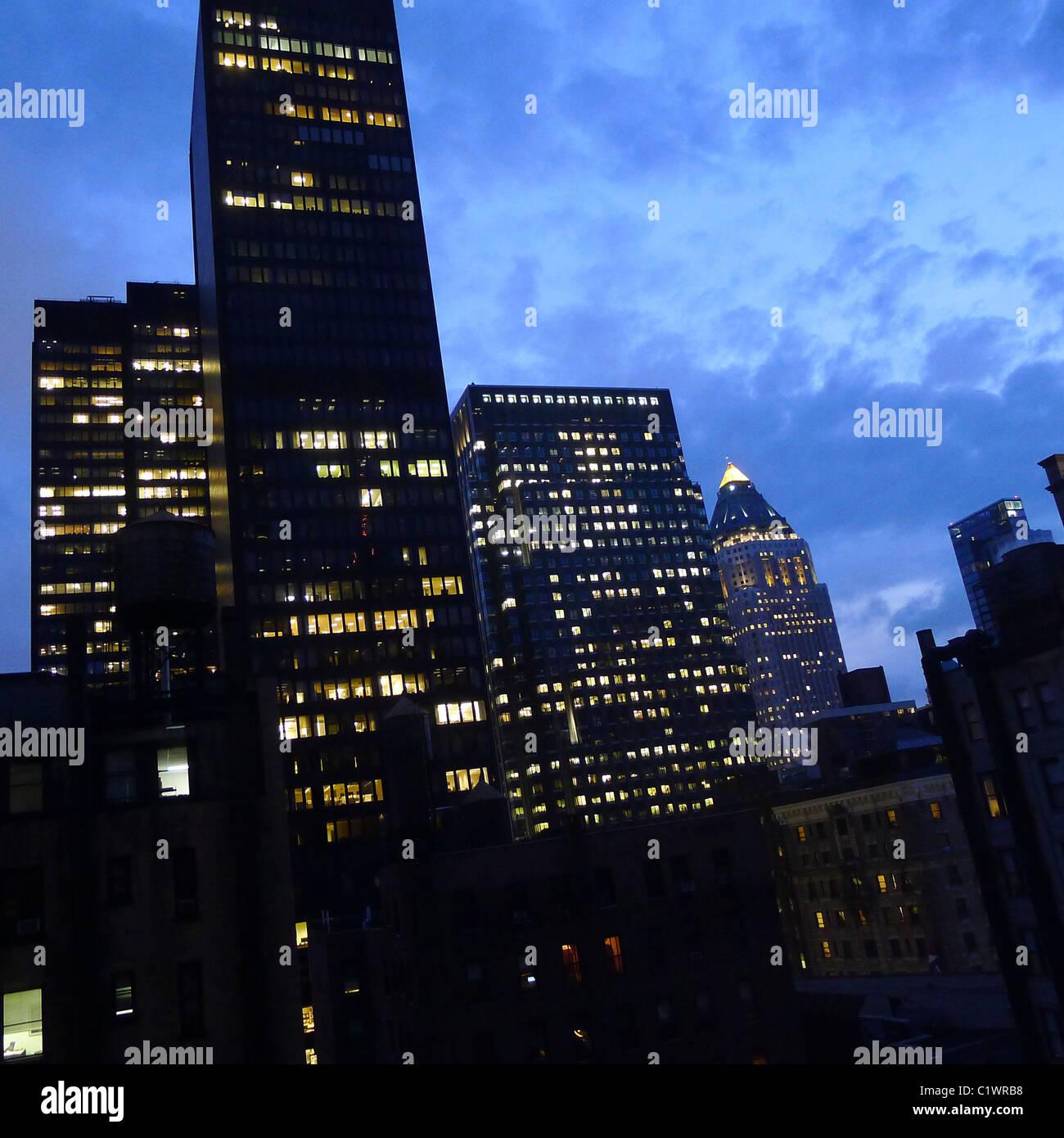 Les villes américaines, l'architecture de la ville de New York, USA. Photo Stock