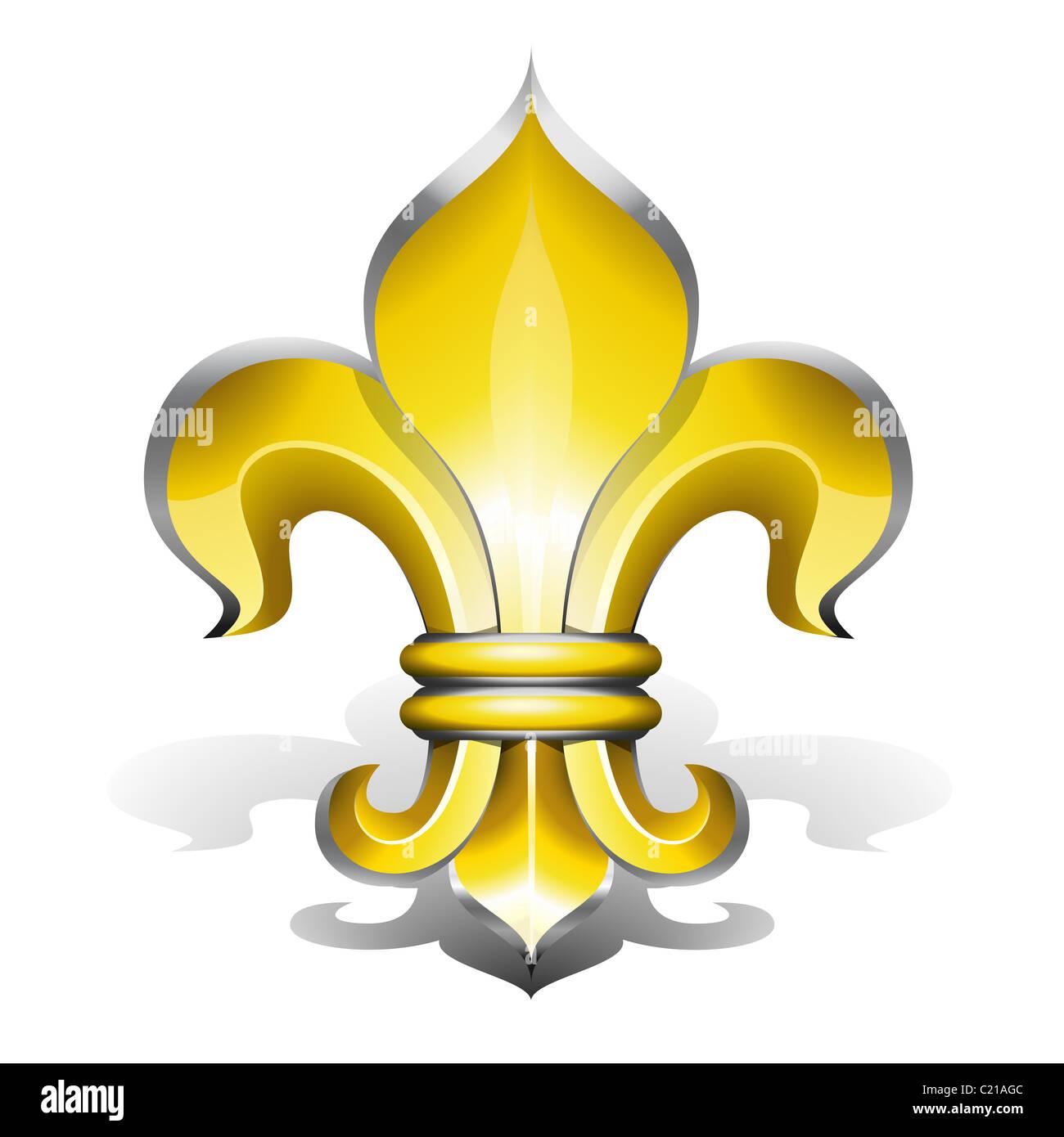 Fleur De Lys Antique Symbole De Royaute Francaise Banque D Images