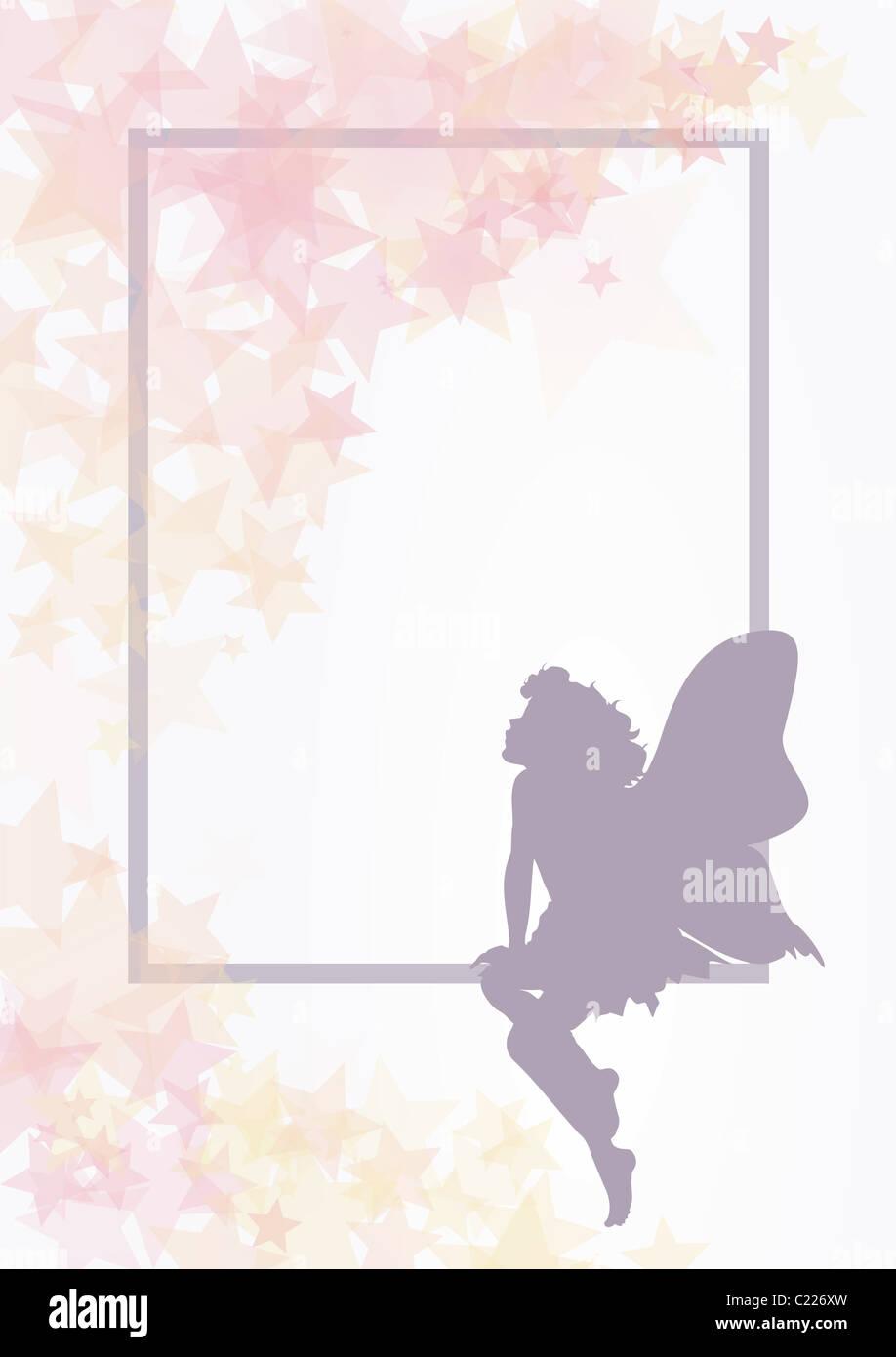 Forme de fleurs fée délicate Photo Stock