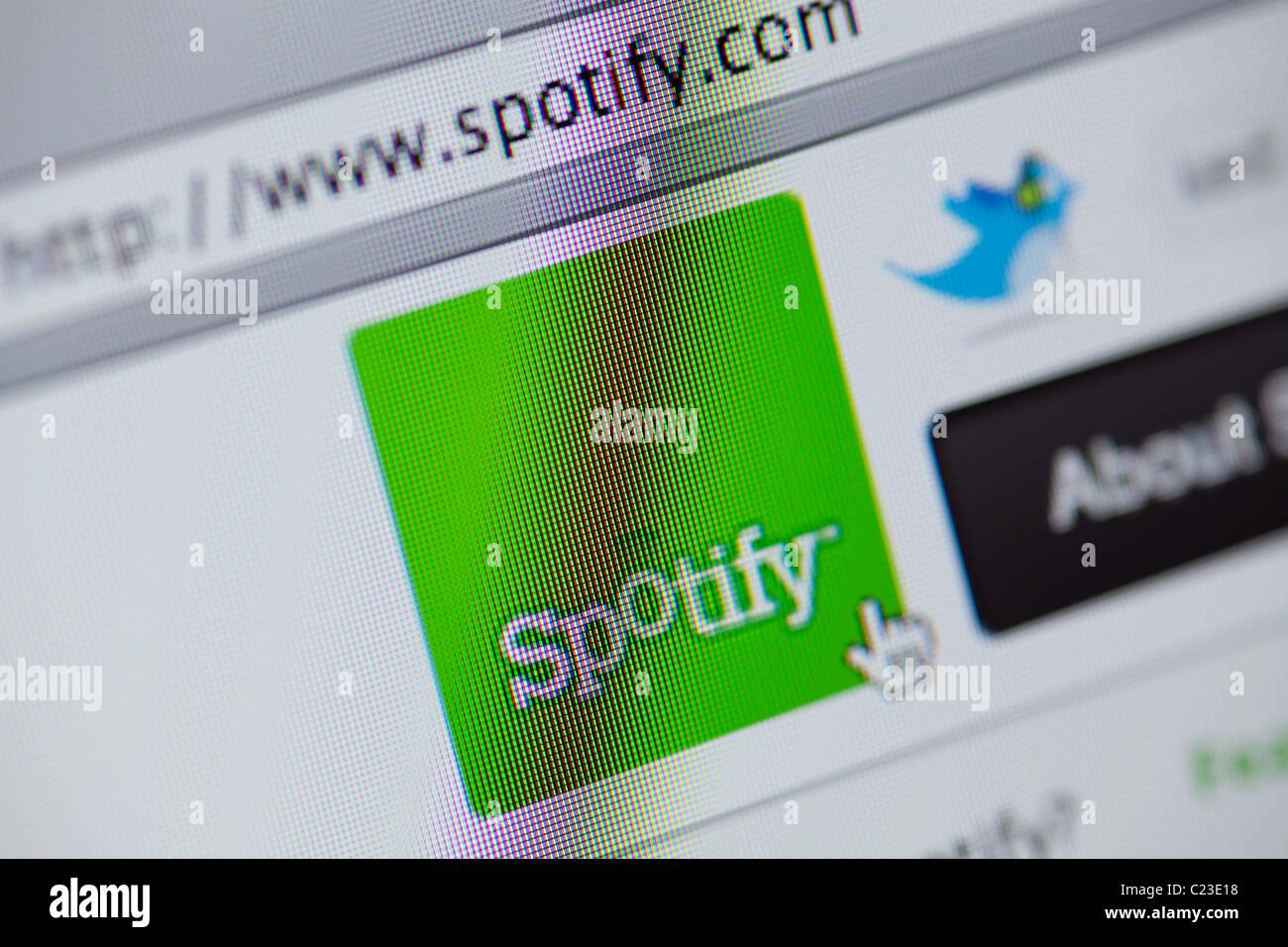 Site de téléchargement de musique Spotify Photo Stock