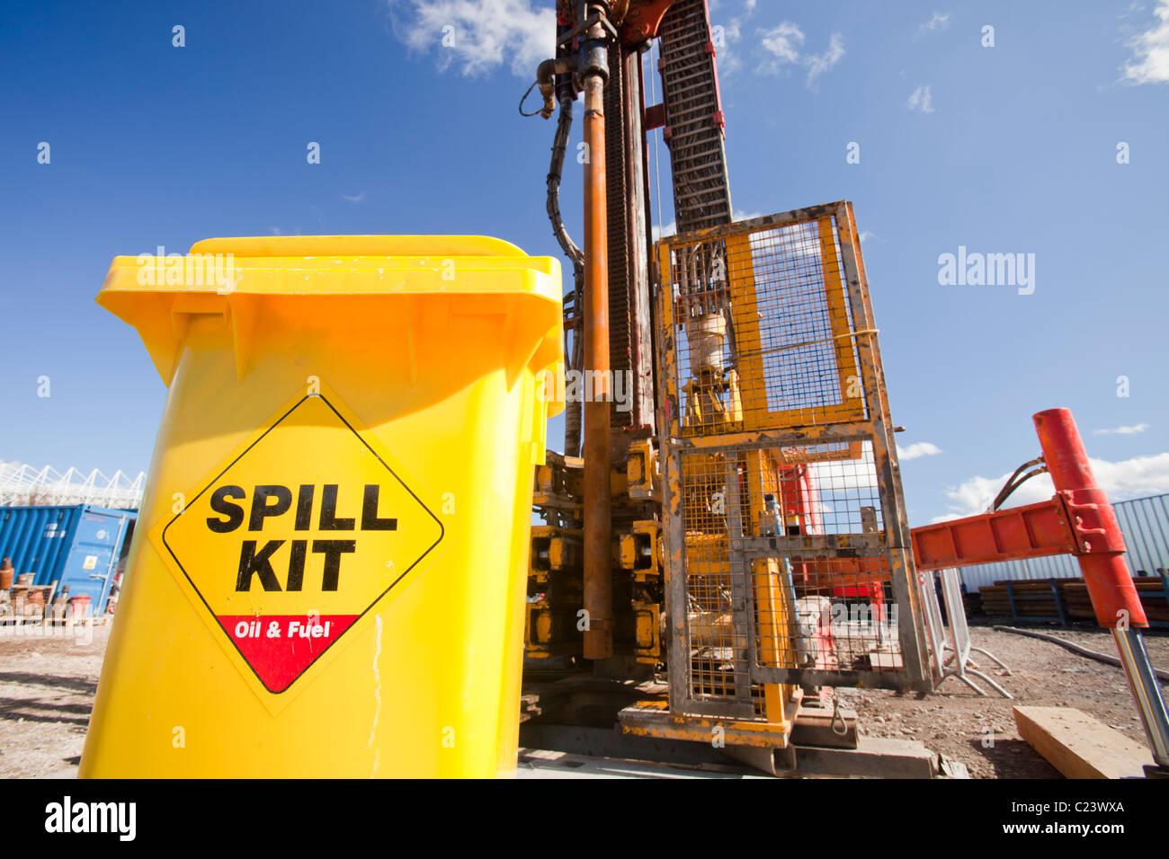 Une trousse de déversement à un projet d'énergie géothermique par Newcastle University, Photo Stock