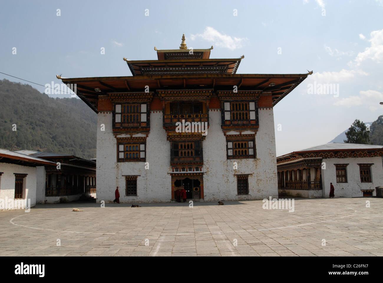 Monastère à Trashi Yangtse, East Bhoutan Photo Stock