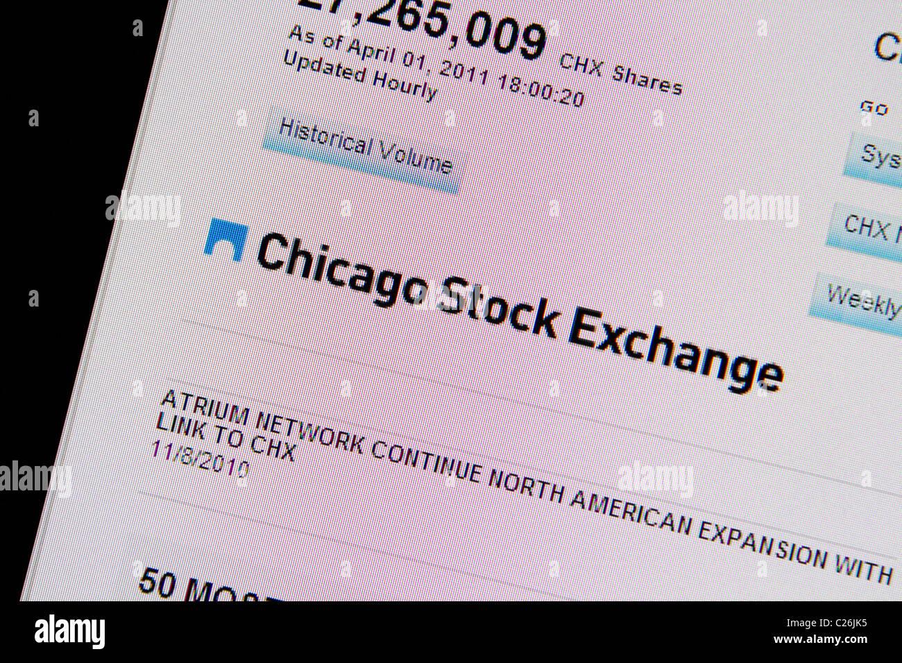 Site web de la Bourse de Chicago Photo Stock