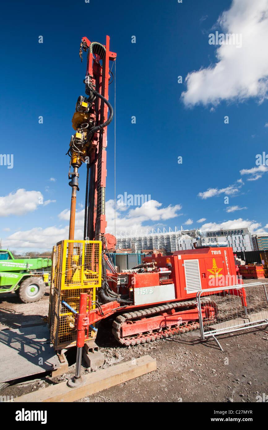 Un projet d'énergie géothermique par Newcastle University, financé par le ministère de l'énergie Photo Stock
