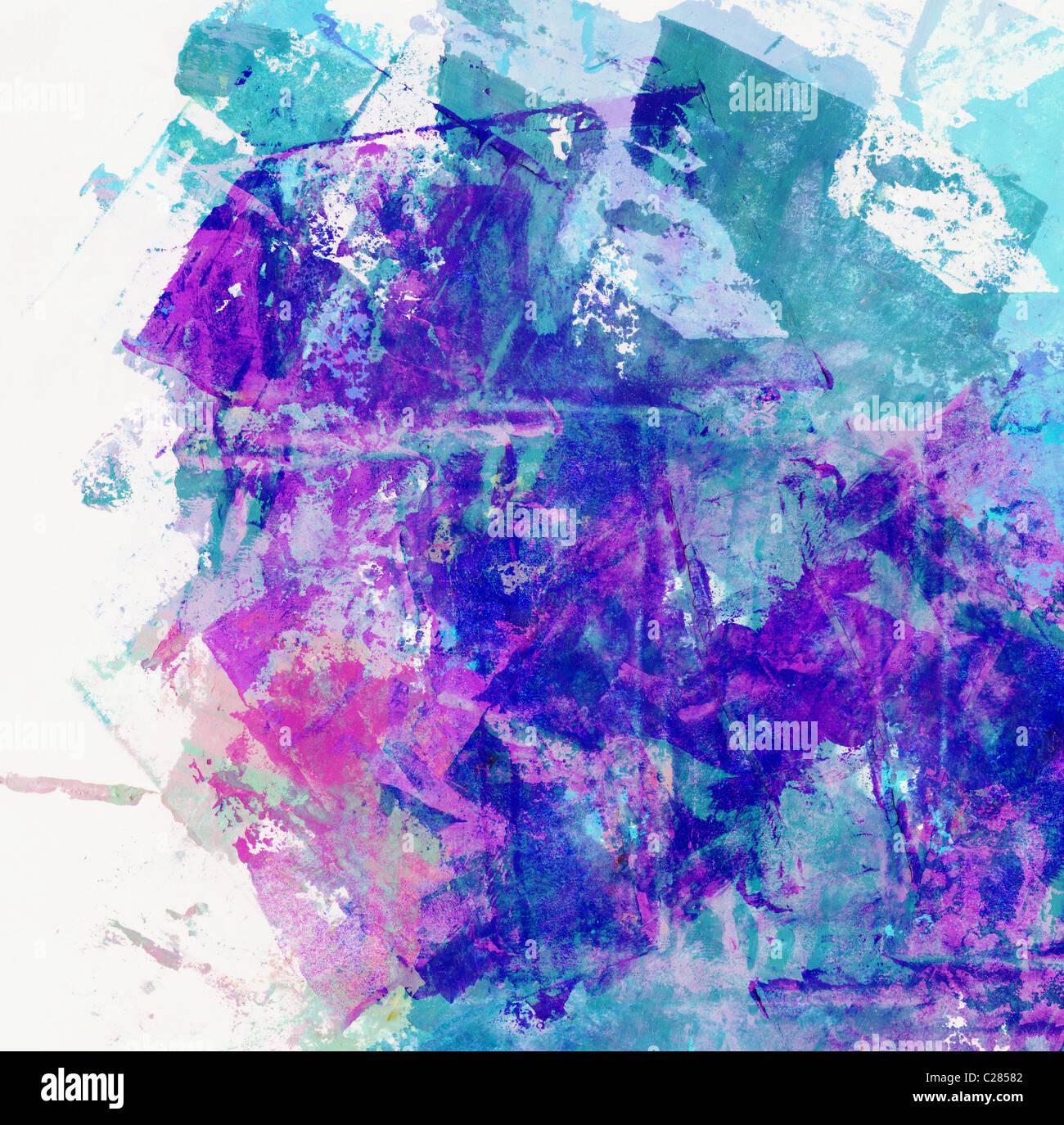 La peinture abstraite moderne d'Art Contemporain Toile de fond ou la texture. Aquarelle peintures à l'huile Photo Stock