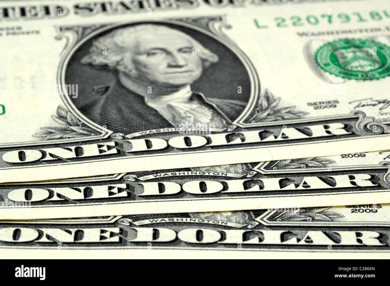 Dollar, dollars, argent, billets de banque américains Photo Stock
