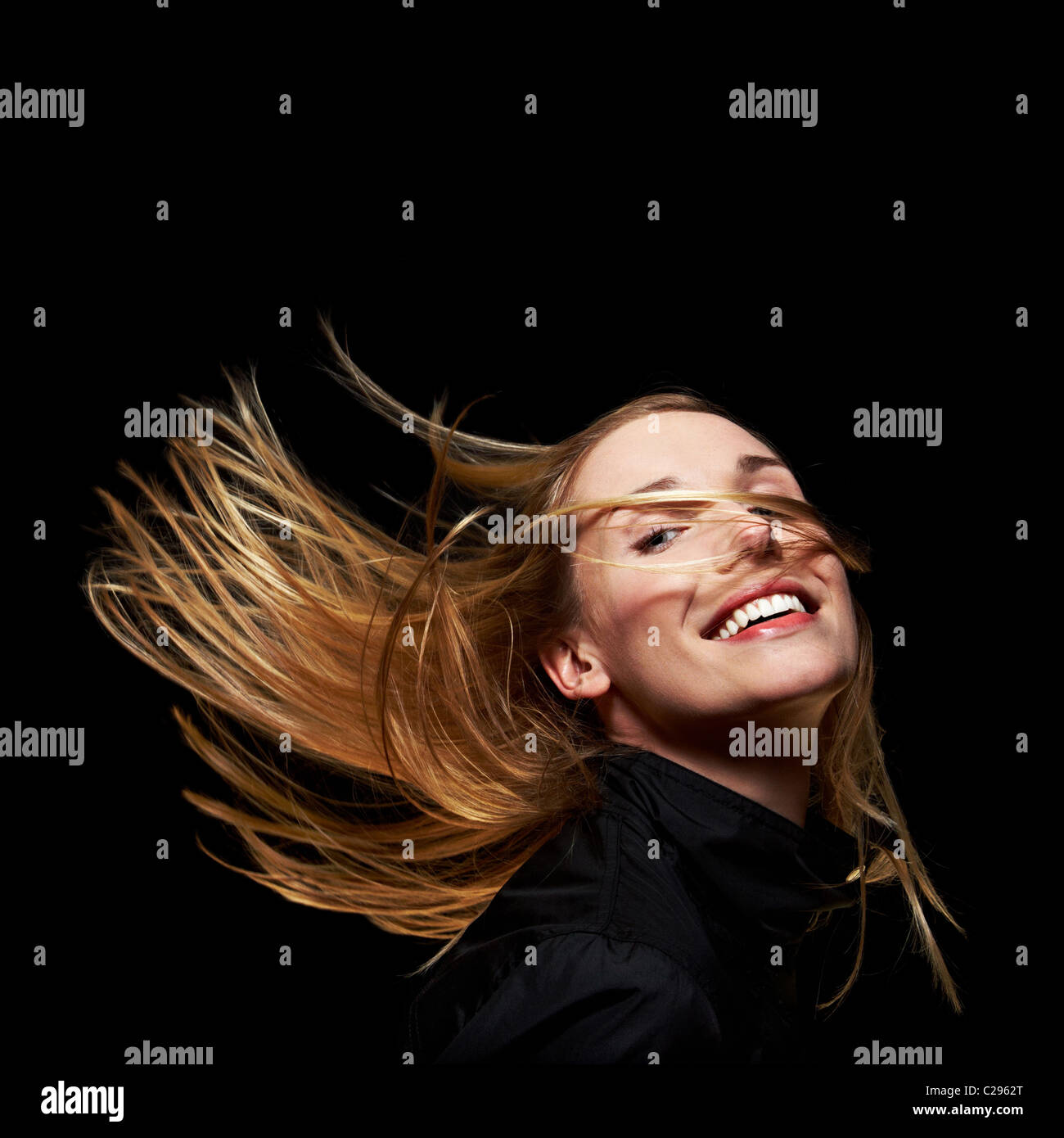 Cheveux blonds Photo Stock