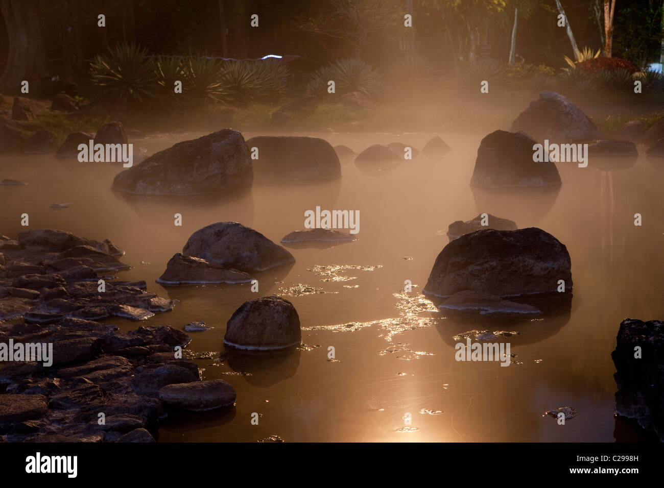 Parc National Chae Fils Hot spring, Chae Fils, Lampang, Thaïlande Photo Stock