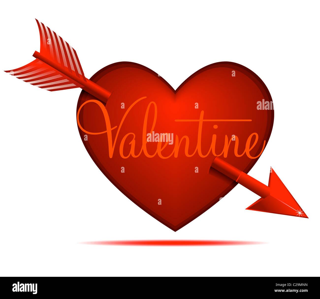 Coeur Saint-Valentin Photo Stock