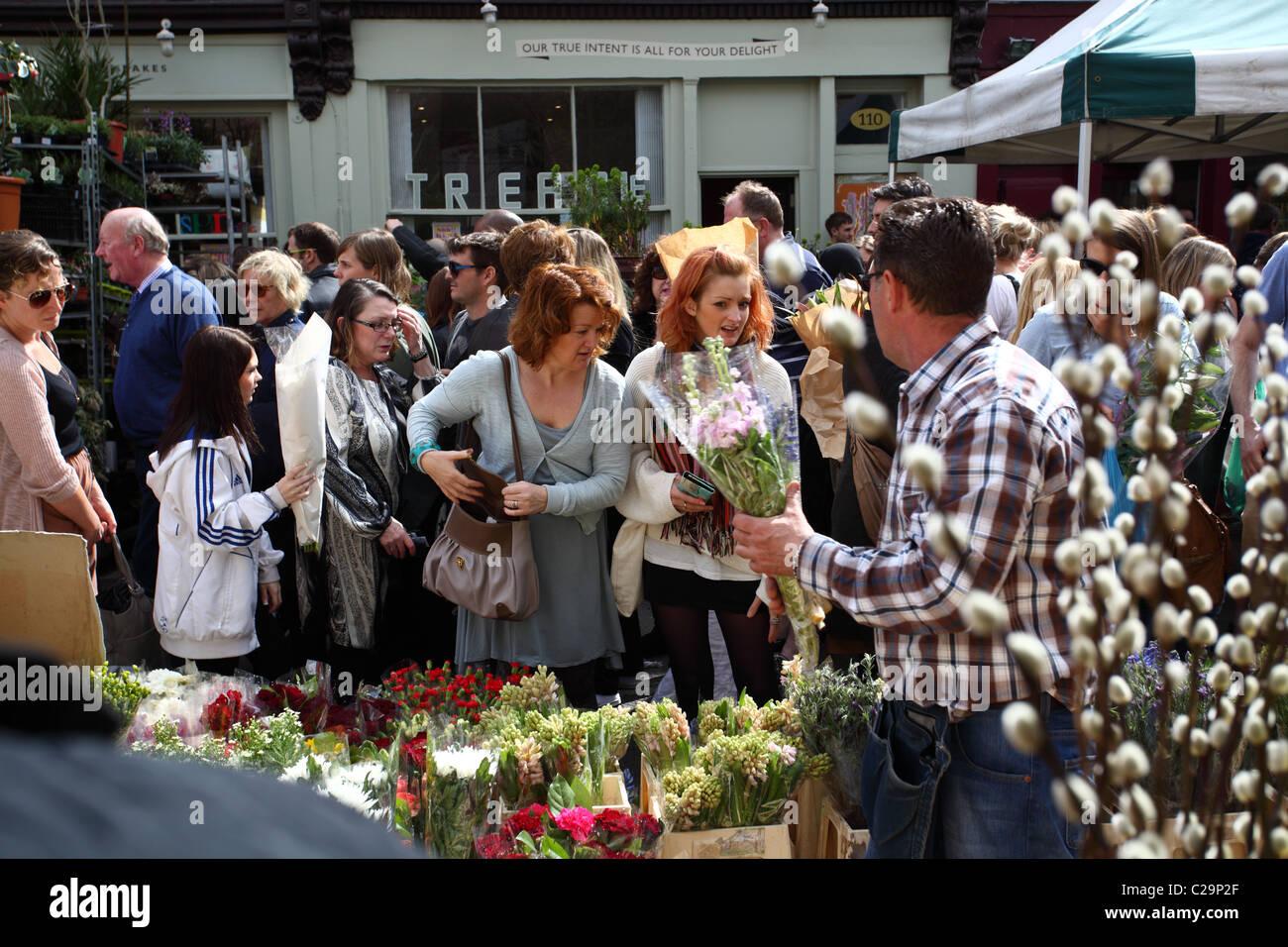 Columbia Road Flower Market Londres UK Photo Stock