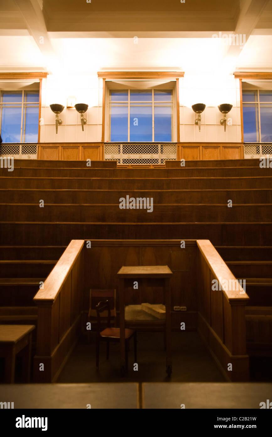Russie, Moscou, vide salle de conférences à l'Université de Moscou Photo Stock