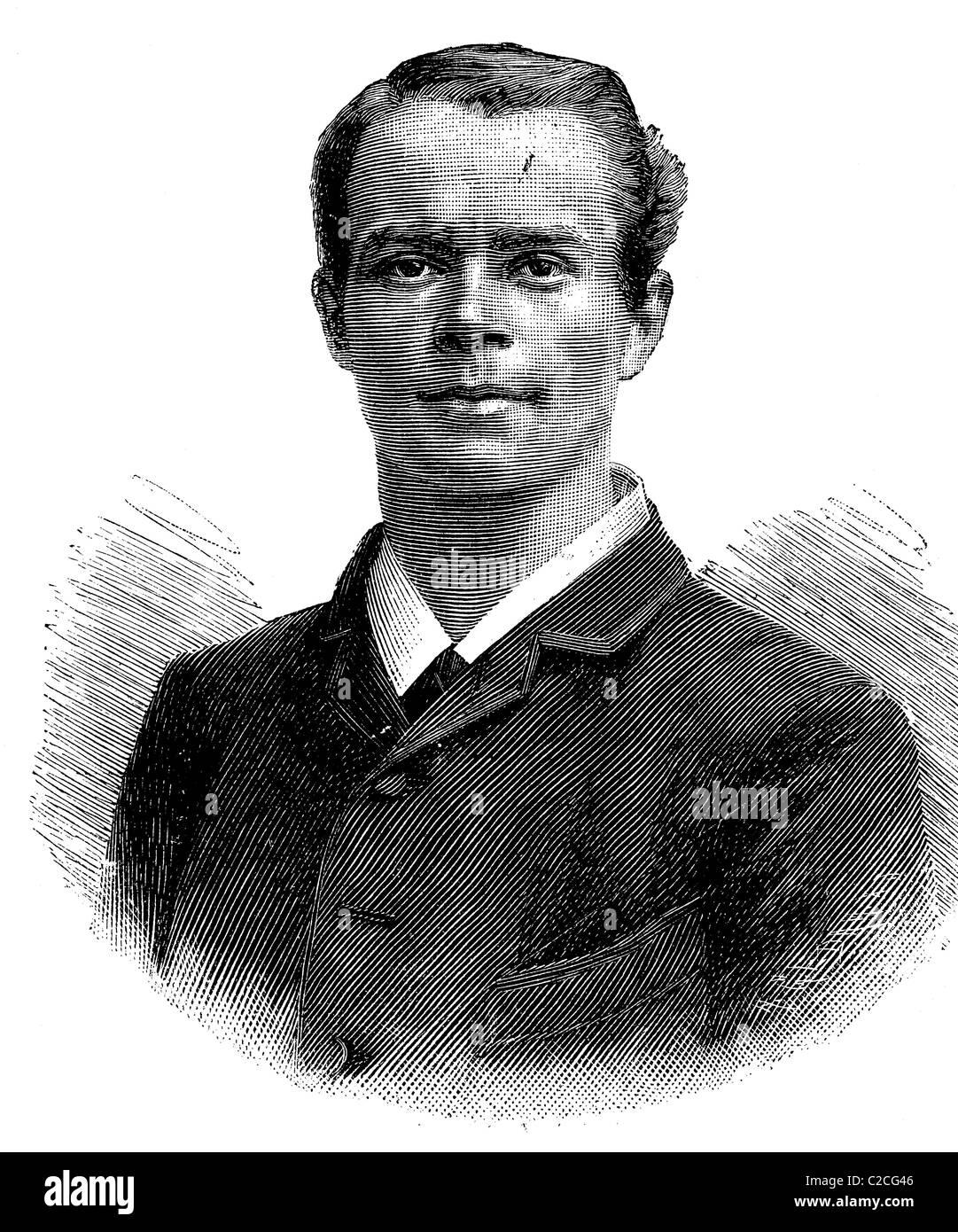 Otto Peitz, l'un des gagnants de la distance mars Vienne - Berlin 1893, illustration historique vers 1893 Photo Stock