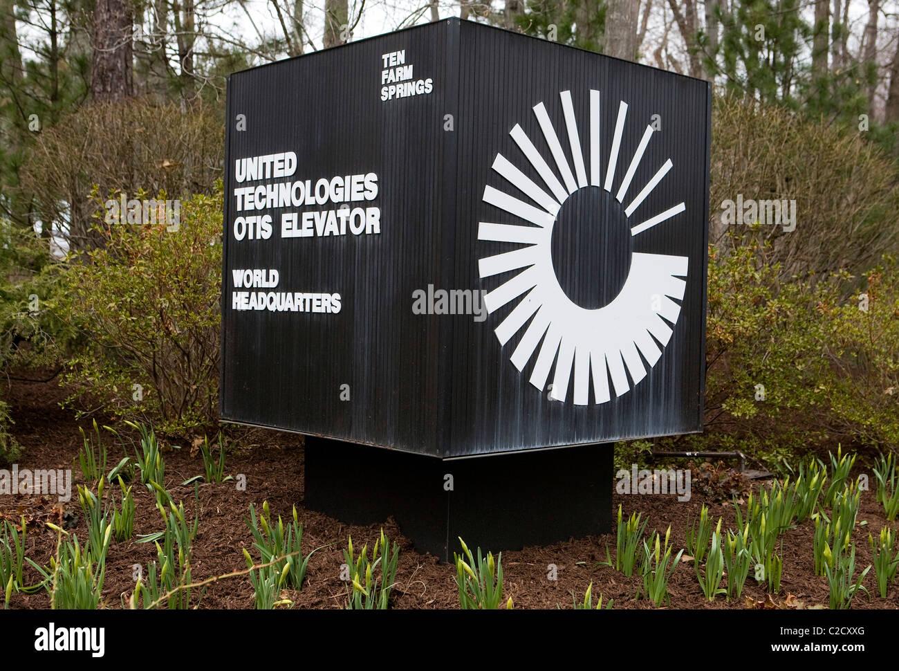 Le siège mondial de l'Otis Elevator. Photo Stock