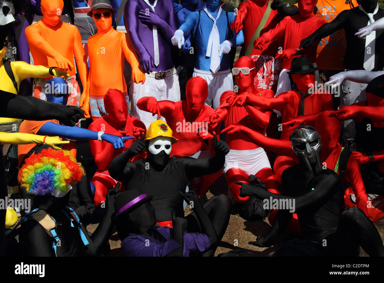Fancy dress costume Morph Photo Stock