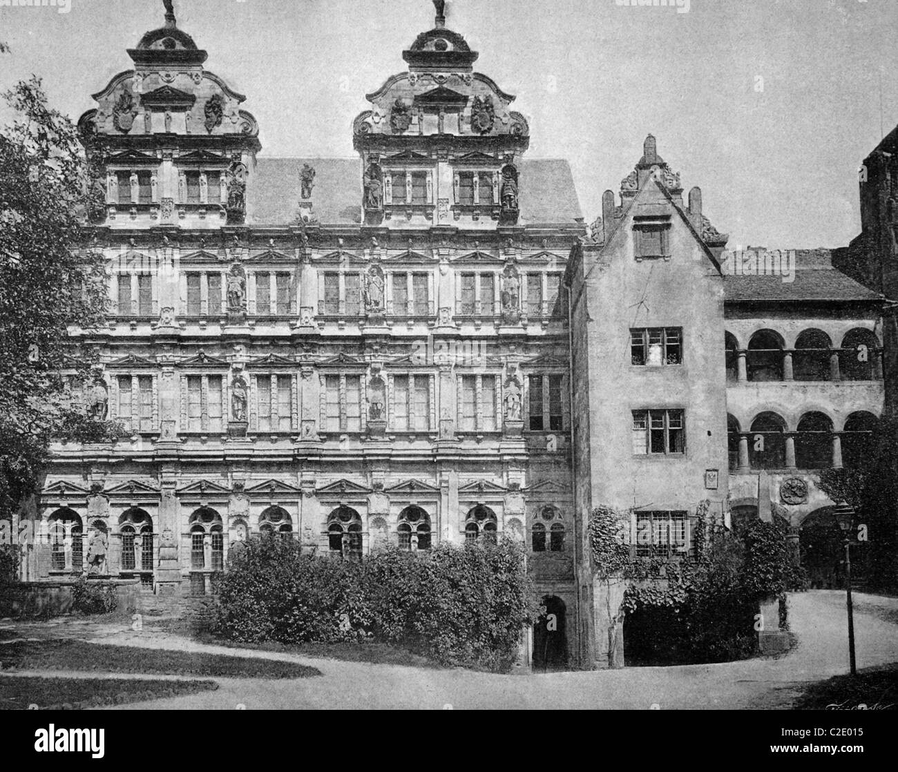 L'un des premiers autotypes de Heidelberg, Allemagne, photographie historique, 1884 Photo Stock