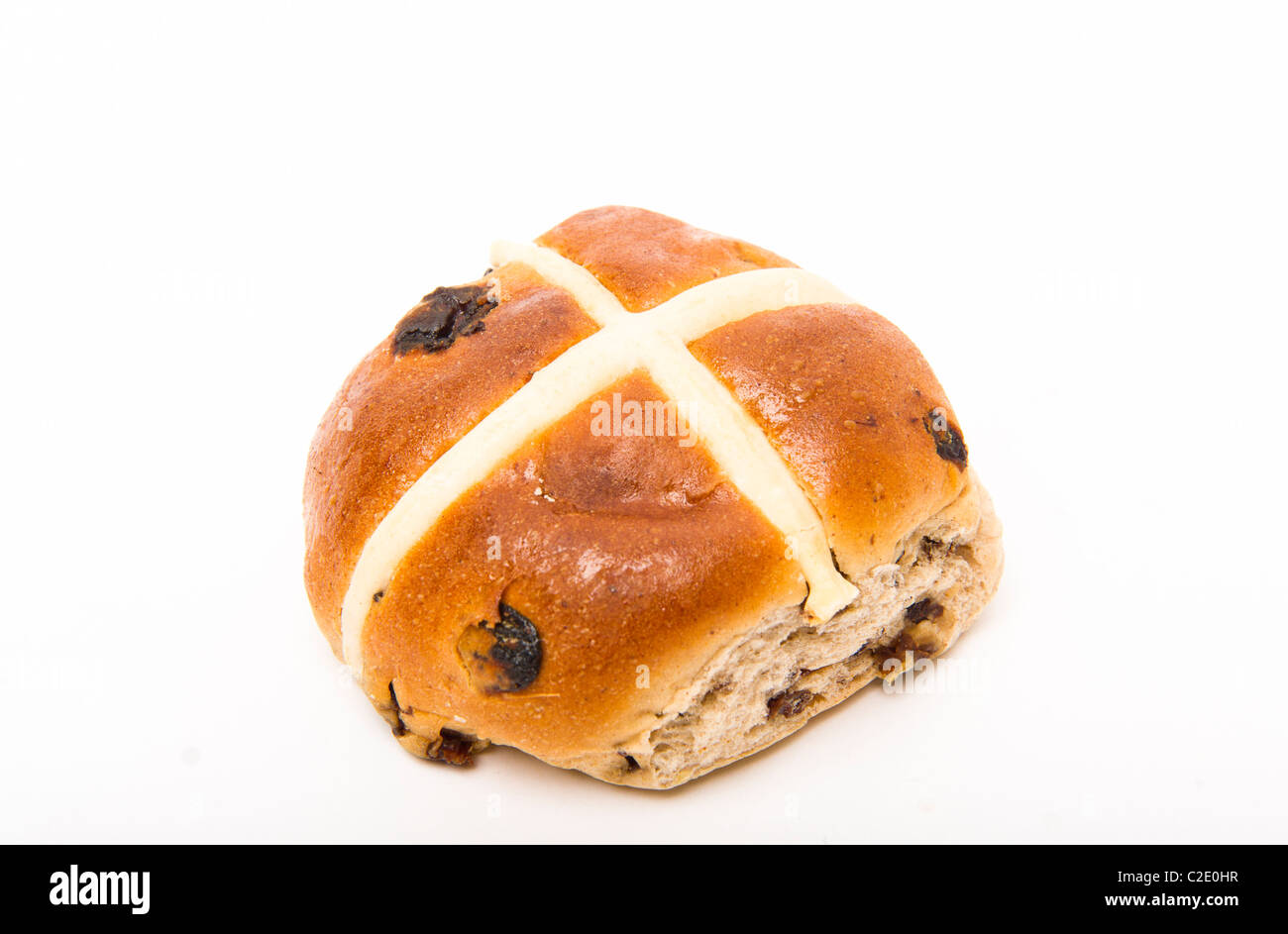 Hot cross bun Pâques Photo Stock