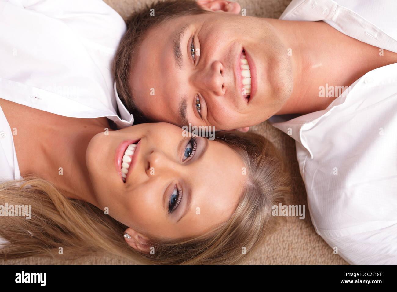 Happy young couple having fun Photo Stock