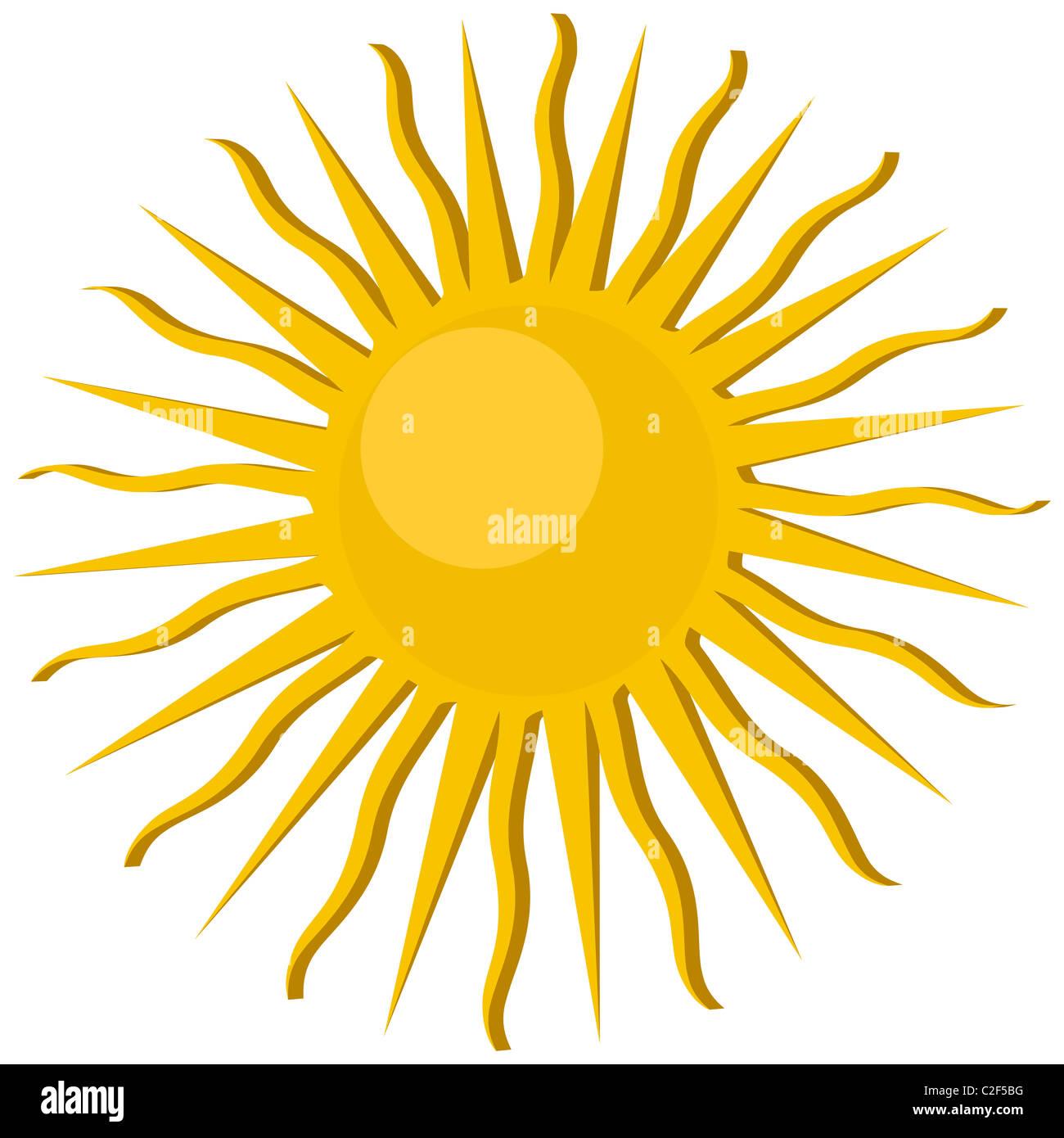 Icône de soleil Photo Stock
