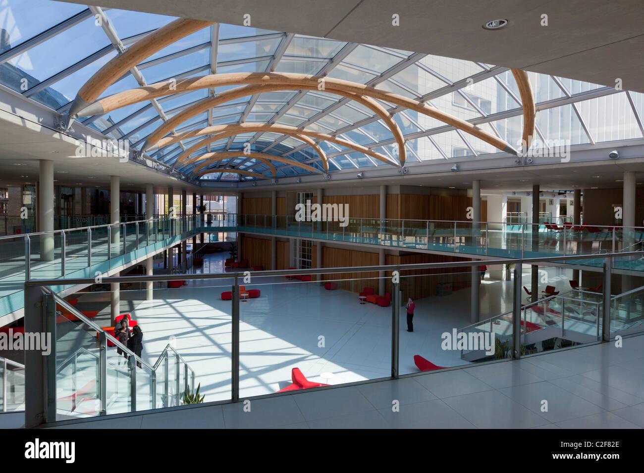 Newton et Arkwright Bâtiments Nottingham Trent University, Nottingham, Royaume-Uni Photo Stock