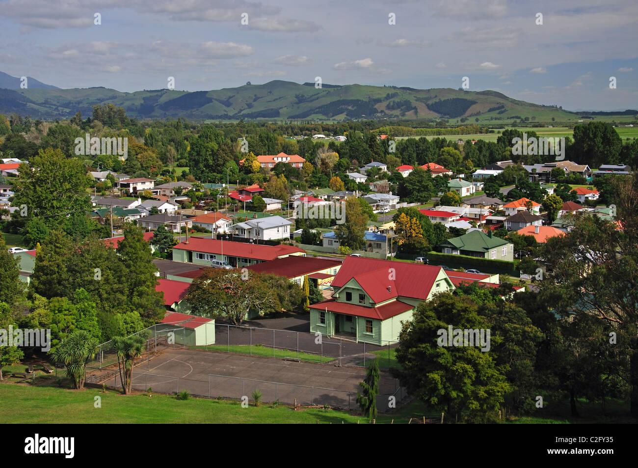 La ville de Primrose Hill, Paeroa, de la région de Waikato, Nouvelle-Zélande, île du Nord Photo Stock