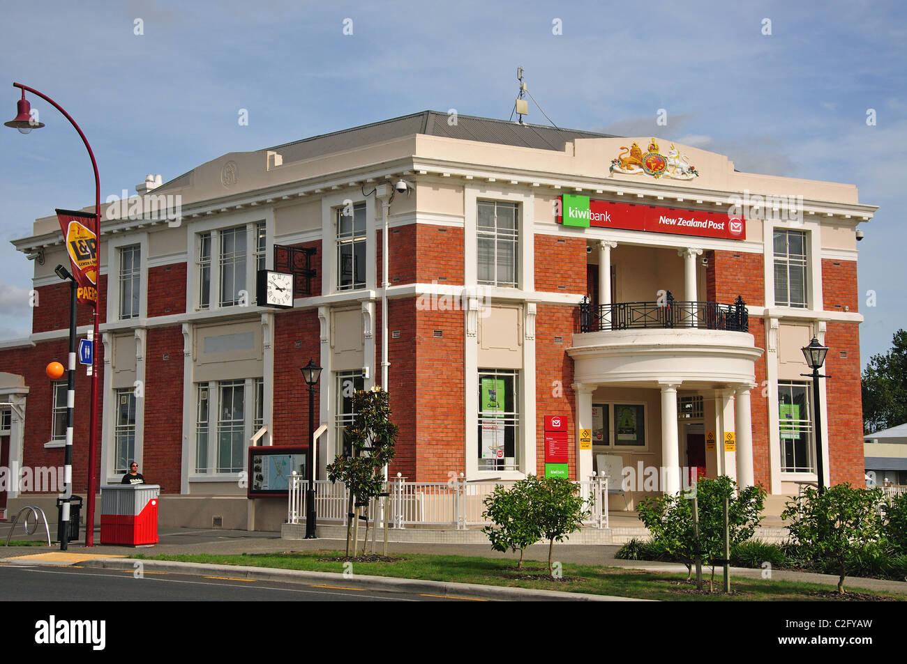Old Post Office Building, Belmont Road, Paeroa, de la région de Waikato, Nouvelle-Zélande, île du Photo Stock