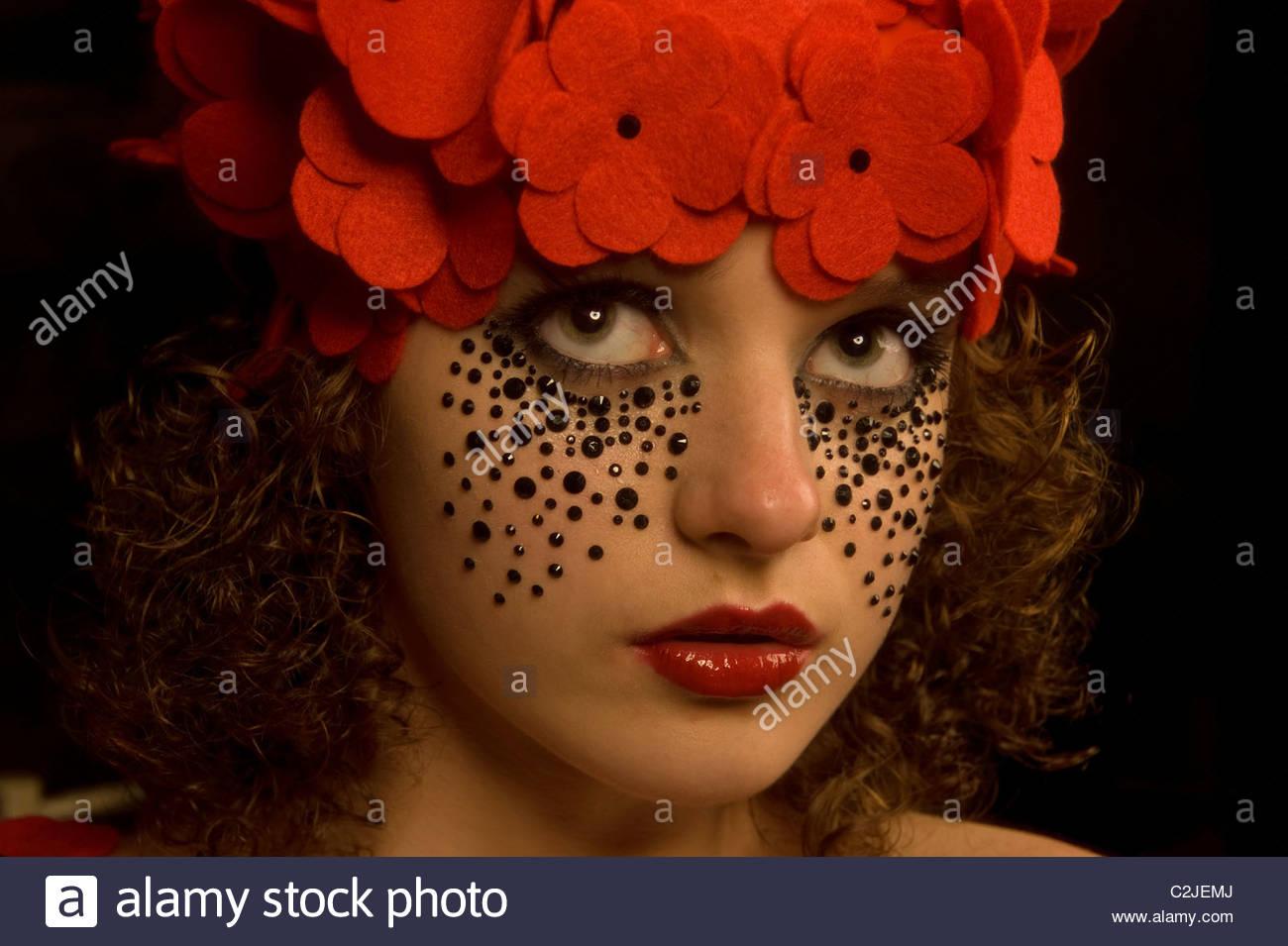 Jeune fille espiègle Photo Stock