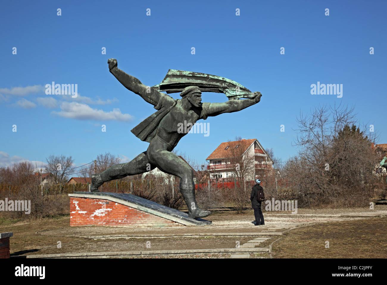 République de Monument Conseils Memento Park Budapest Hongrie Europe Banque D'Images