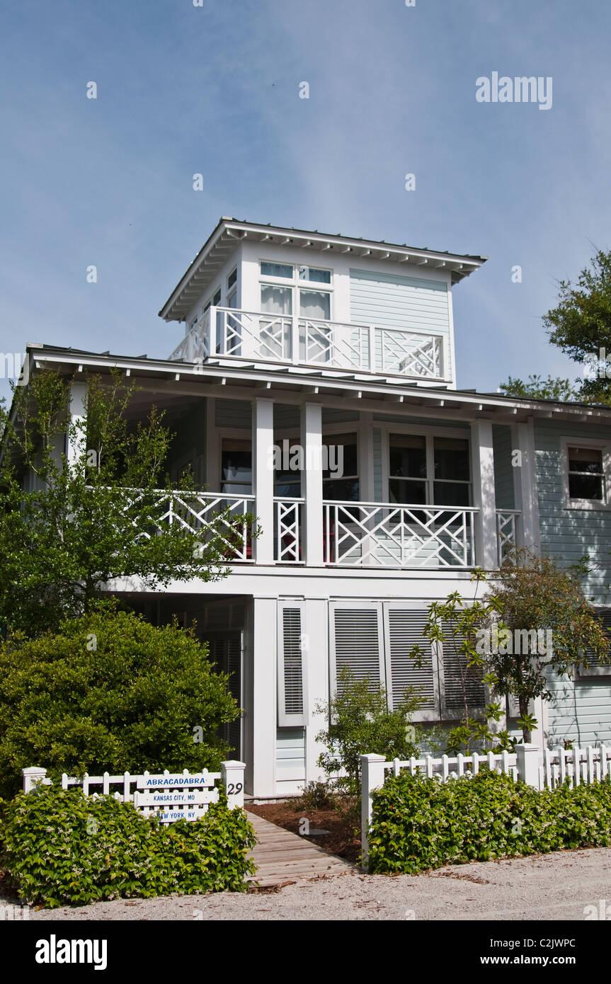 Une maison en bord de mer, en Floride. Banque D'Images