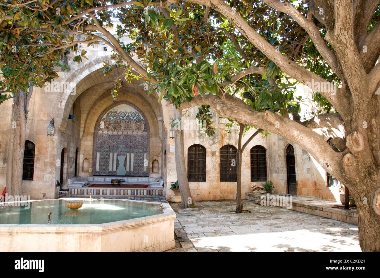 Ottoman Palace Azem syrien Syrie Hama résidentiel Photo Stock