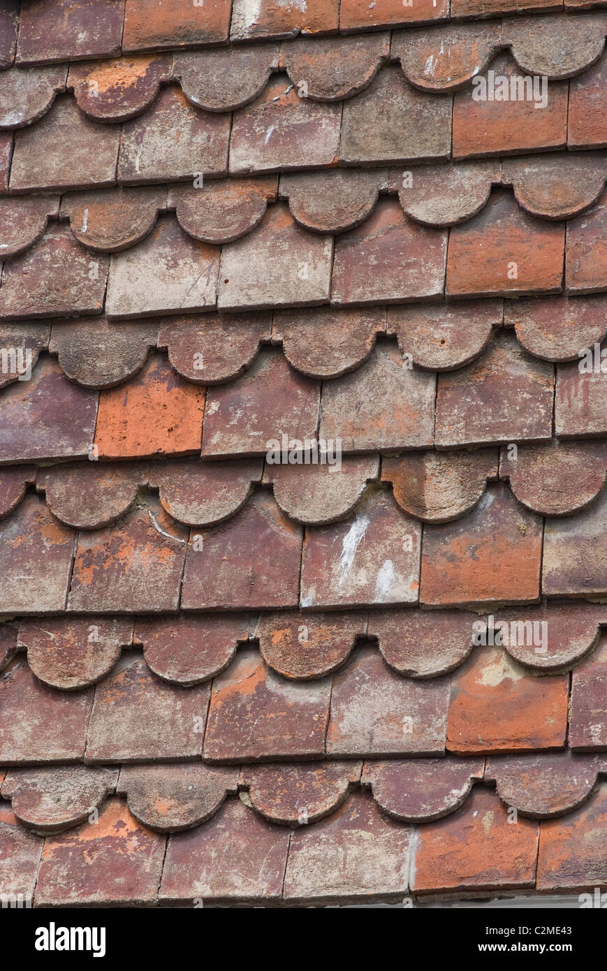 Détail de carreaux, de seigle, Kent, Angleterre Photo Stock
