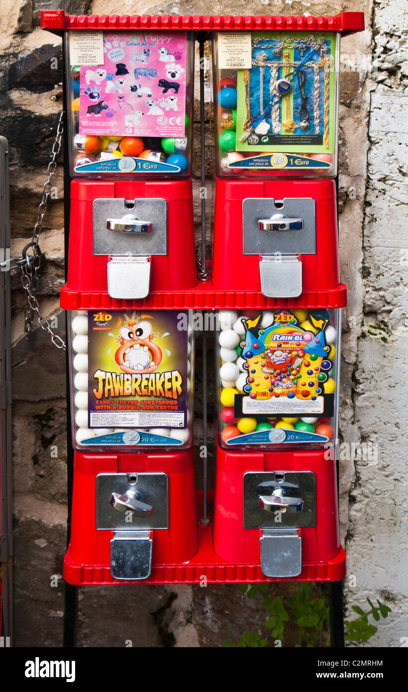 Sweet machine distributeur France Europe Photo Stock