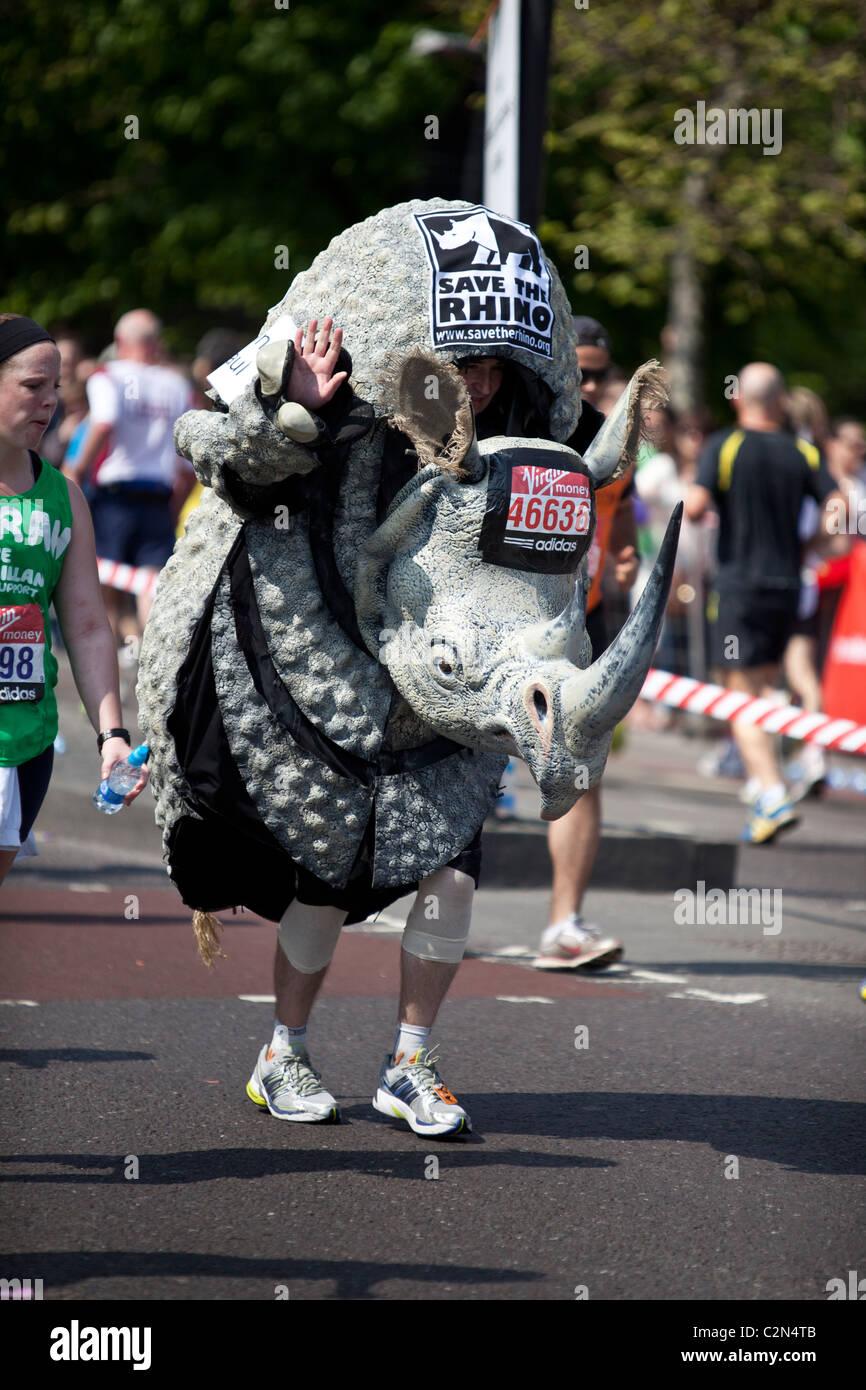 La Vierge Marathon de Londres 2011 Photo Stock