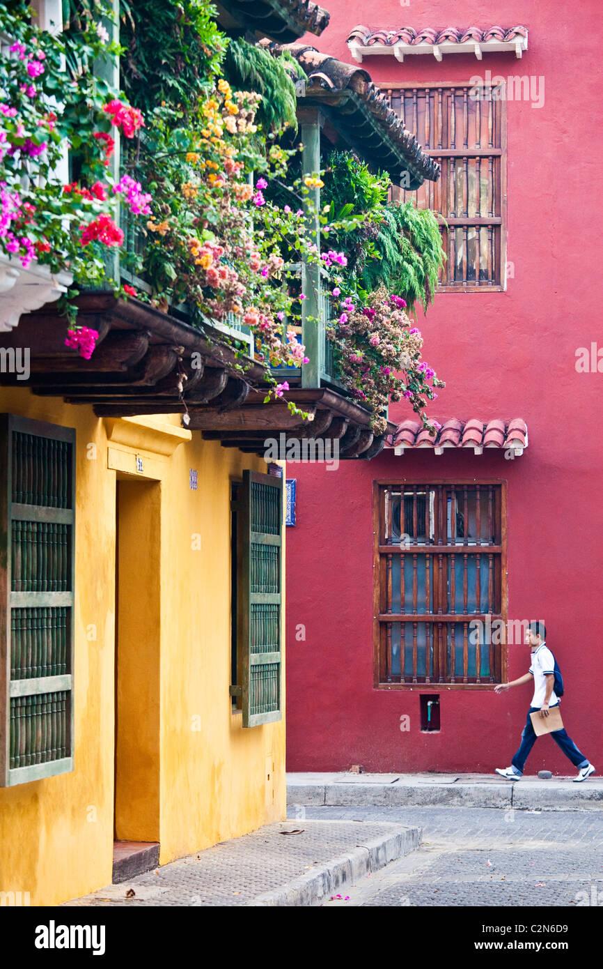 Vieille ville, Carthagène, Colombie Photo Stock
