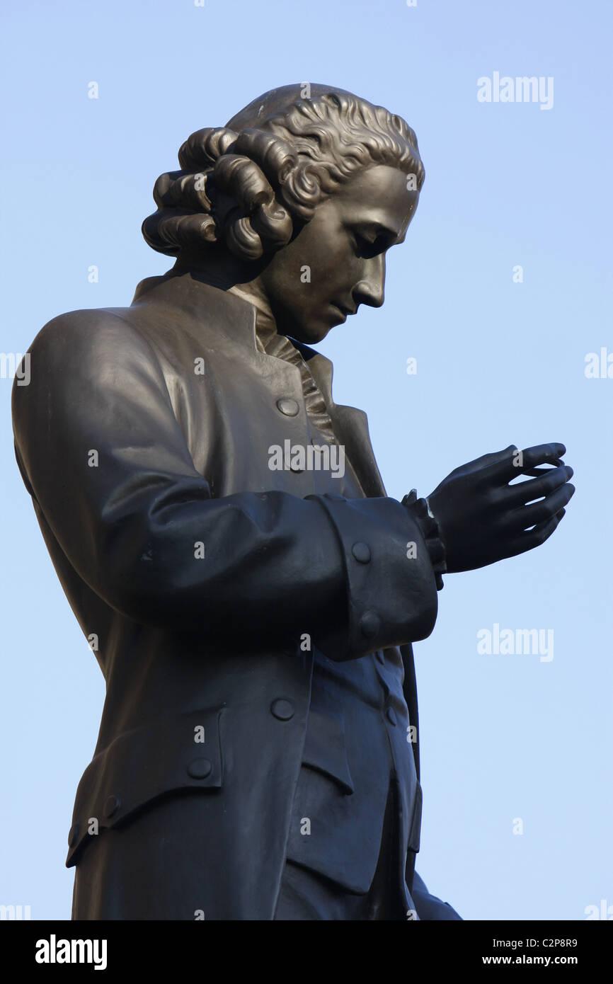 Statue de Joseph Priestley dans Chamberlain Square, Birmingham, Angleterre, RU Banque D'Images