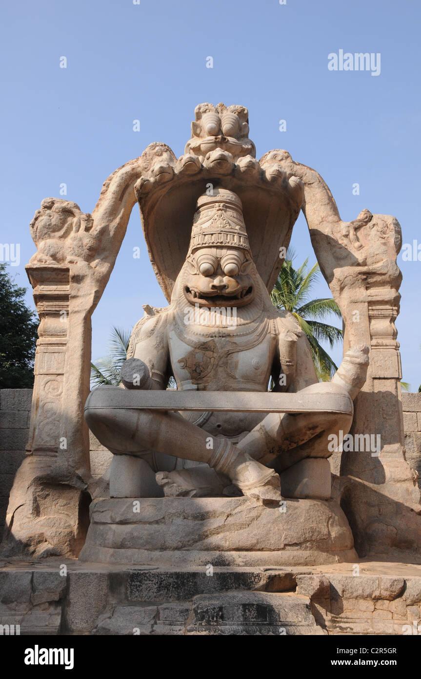 Lakshmi narasimha temple, humpi, un patrimoine monument Banque D'Images