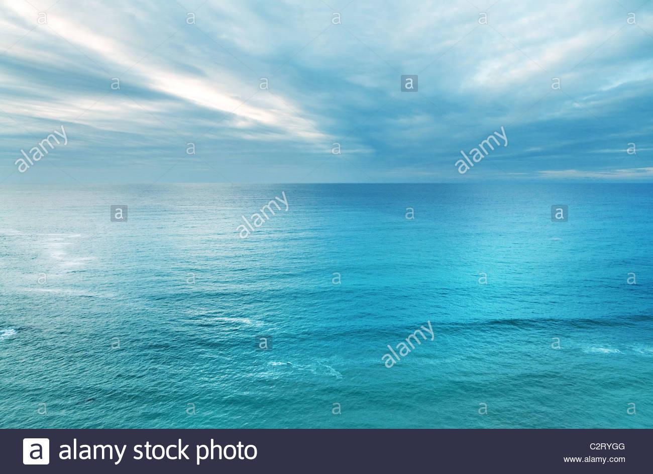 L'océan et du ciel Photo Stock