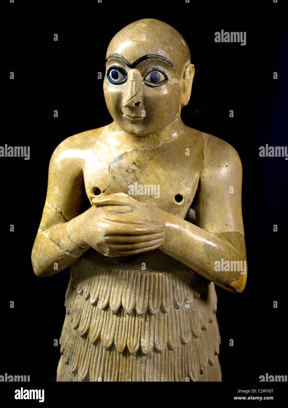 Ninni Zaza iiie millénaire av. Temple d'Istara Mari dire Hariri la Syrie Photo Stock