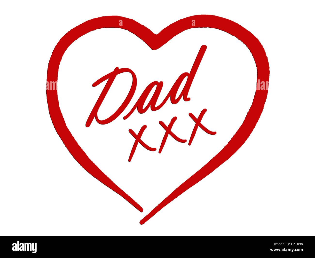Anniversaire Ou La Fête Des Pères Carte Pour Papa De Baisers