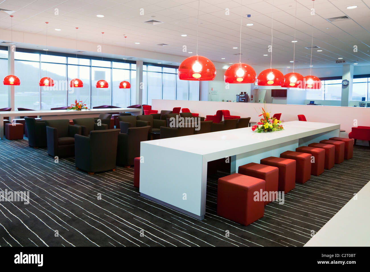Qantas Club Lounge à l'aéroport domestique de Cairns. Cairns, Queensland, Australie Photo Stock
