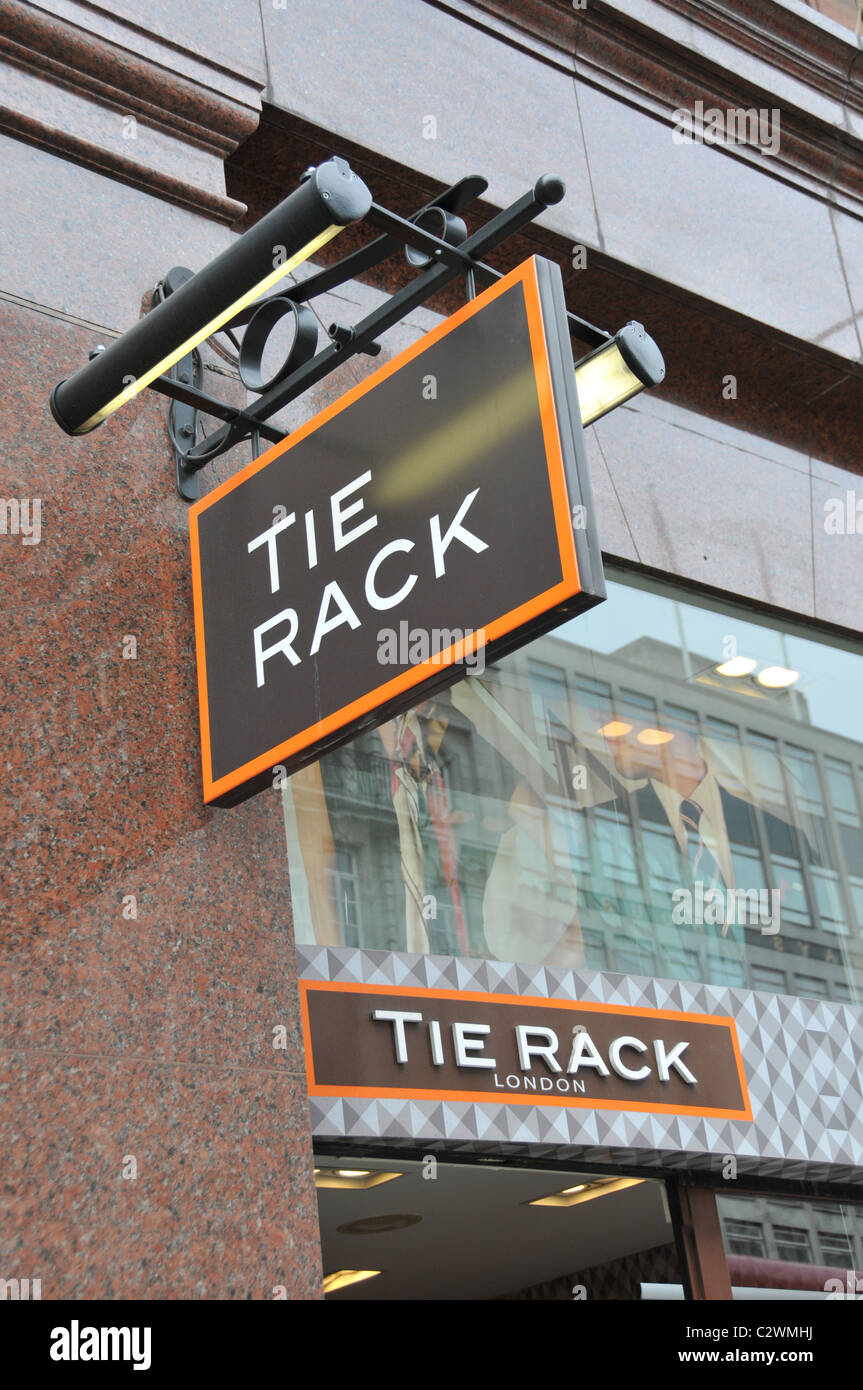 Tie Rack store shop foulard foulards cravates Londres Piccadilly Photo Stock db5648b9f4a