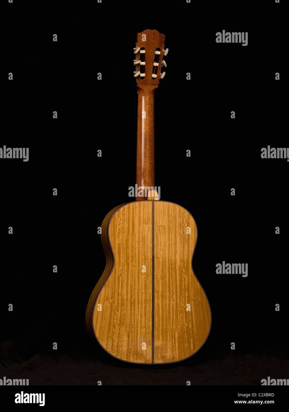 Portrait d'une guitare acoustique Photo Stock